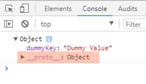 console dummy object